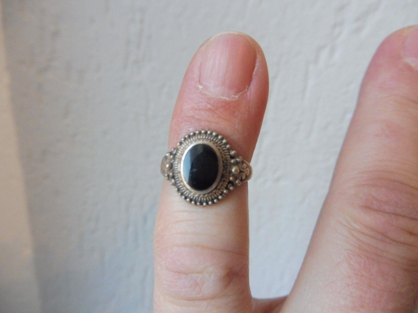 Schöner, alter Ring__925 silver__mit Onyx__
