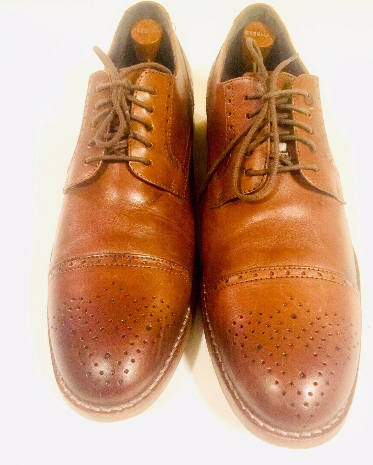 Johnston & Murphy 1850 J & M Wingtip Men's Dress shoes  10 1 2M Leather