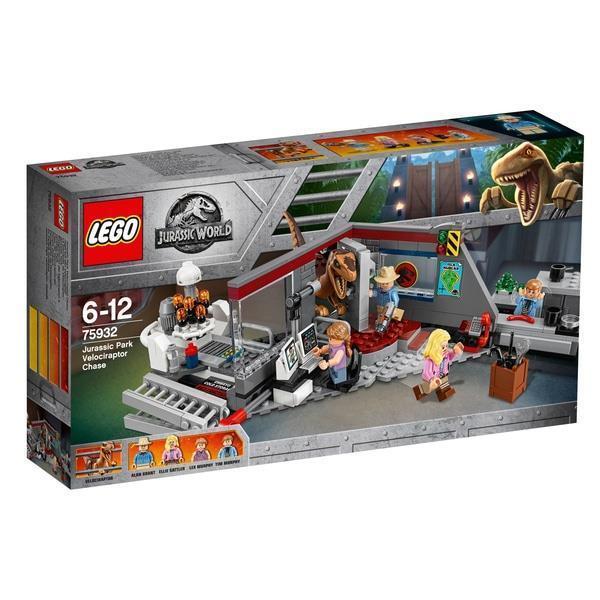 Niños Lego Jurassic World Velociraptor Chase y el conjunto de Dinosaurio Juguetes de la película