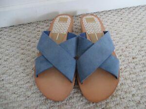 Dolce Cross Sandalen Slides 9 Maat Schoenen Nieuw Vita 5 Blue Suede Strap aqWZHxacrT