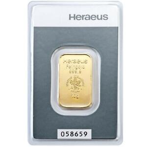 Heraeus-10-Gramm-Goldbarren-999-9-Gold-in-Blisterkarte-Neuware