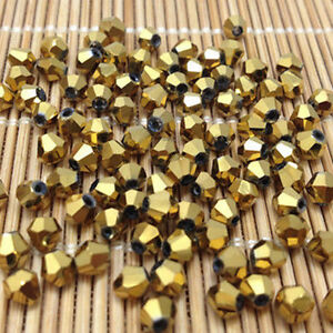 100pcs-golden-4MM-5301-glitter-Crystals-luster-delicateness-Bicone-Loose