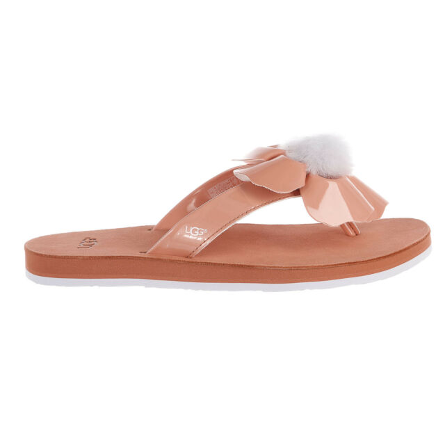 404e10fae UGG Poppy Fusion Coral Flip Flops Sandals Thongs Size 9 for sale ...