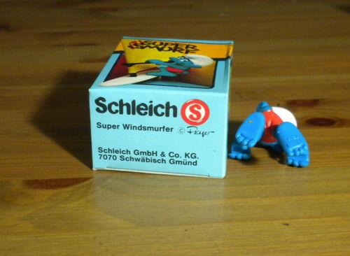 Smurfs 40215 Wind Surfer Smurf Figure Vintage Surf Board Toy Figurine Schleich