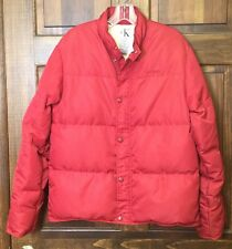 Calvin Klein Women's Down Jacket / Coat Red  Puffy Puffer- Size Large - Flaws