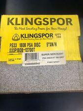 100 Box Klingspor 5 Disk Solid Psa Sanding Disks 180 Grit Closeout Price