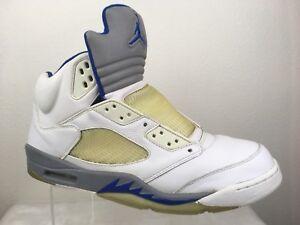 ac6fef8a042 06 Nike Air Jordan V 5 Retro WHITE ROYAL BLUE STEALTH WOLF GREY ...