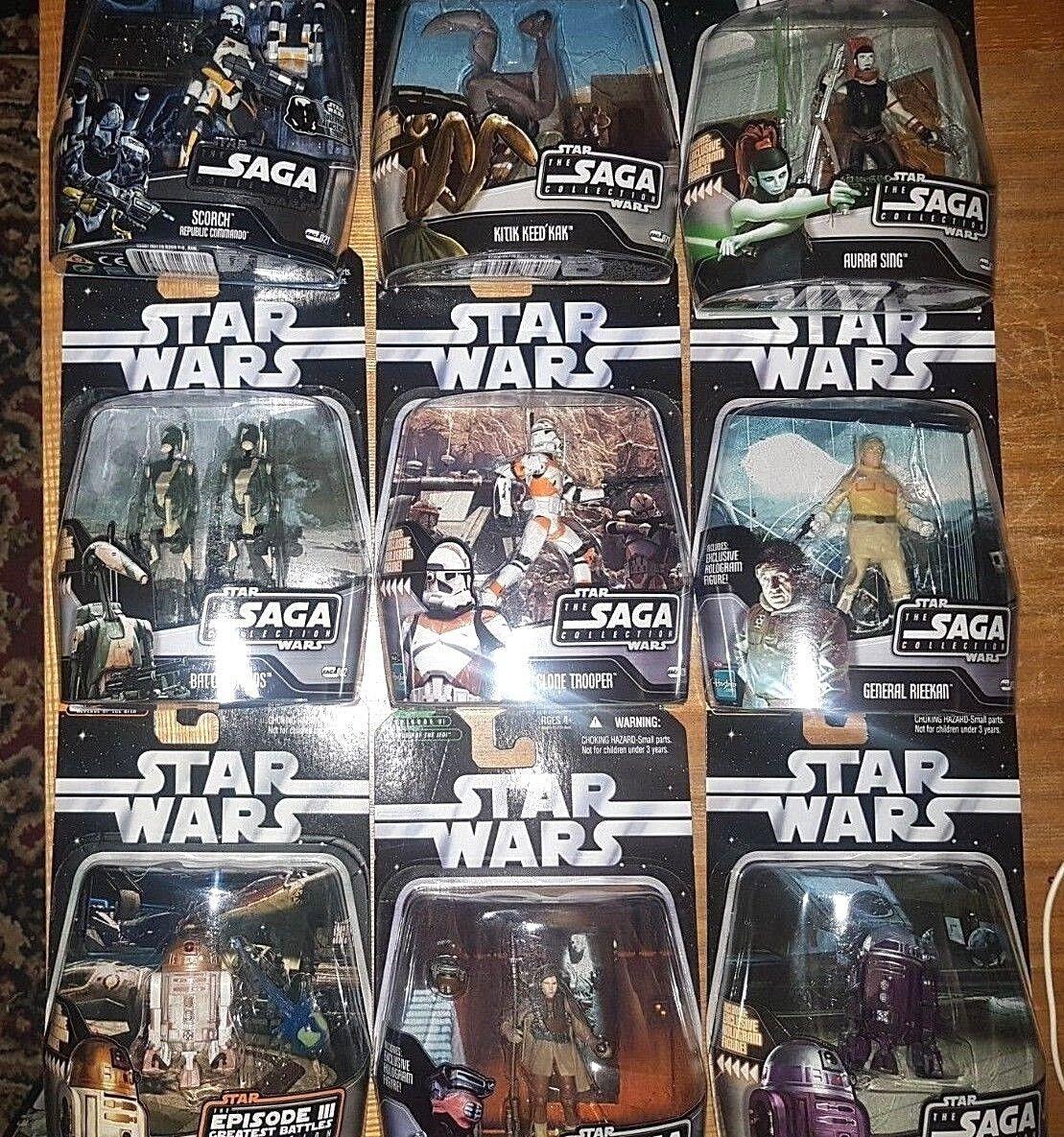"""Star Wars 3.75"""". THE SAGA COLLECTION  Figures."""