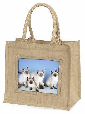 Ragdoll Kätzchen Große natürliche jute-einkaufstasche Weihnachten Geschenkidee,
