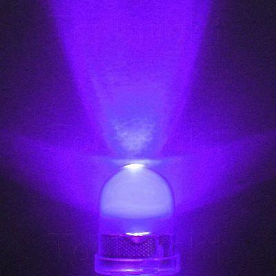 100 PCS 10mm 40° 0.5W UltraViolet UV LED 100mA 40000mcd