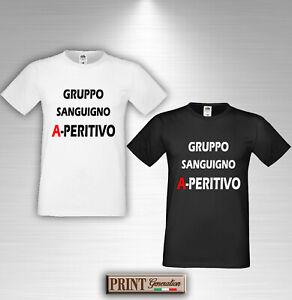 Detalles De Camiseta Grupo Sanguíneo Aperitivo Hombres Camiseta Letras Frase Divertida