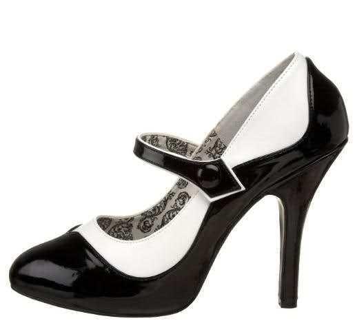 SEXY zapatos decolte cinturino negro negro negro bianco mini plateau t 11,5 dal 36 al 42 GLAM  connotación de lujo discreta