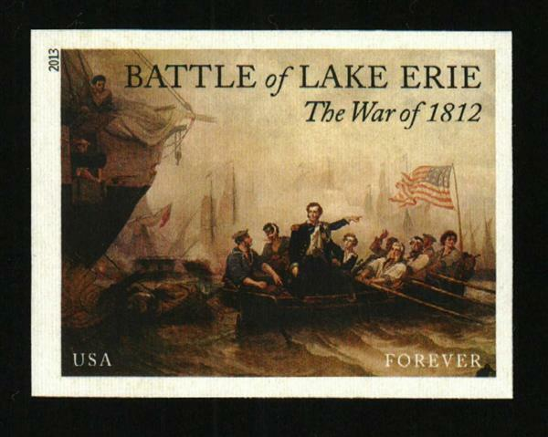 2013 46c Battle of Lake Erie, The War of 1812, Imperfor