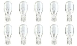 10x 912 Bright Lamp T16 Wedge Auto Mini Dome Backup Reverse Light bulbs 12v Lot