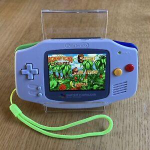 GameBoy Advance GBA Nuovo Retroilluminato Schermo IPS V2 NUOVO SNES Famicom tema Shell Super