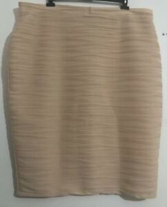 ASOS-Pour-Femme-Jupe-Moulante-Crayon-Stretch-Taille-Elastique-Taille-UK-28-Beige-Bnwt