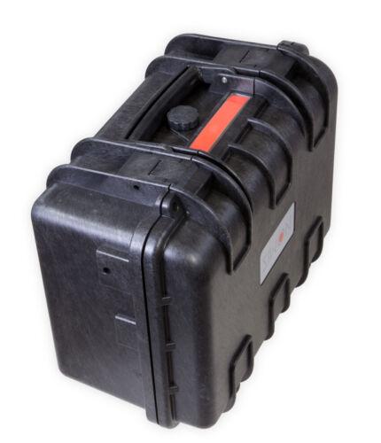 Nomis duro cara maleta outdoor case 36,5 x 30 x 20,7cm polvo-impermeable Black