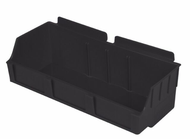 Slatbox Storbox tubs 02A to suit slatwall. Clear only 290mm x 130mm x 85mm.