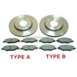 peugeot 206 1.4 hdi 1998-2007 front 2 brake discs & pads check