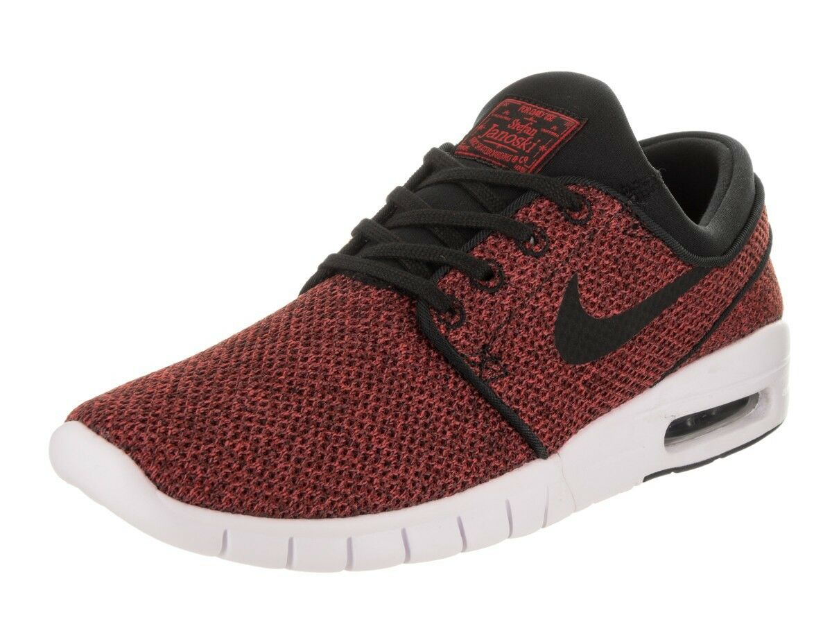 NEW Nike SB Stefan Janoski MAX Skate Shoes Track Red Black 631303 606 MANY SIZES Comfortable and good-looking