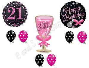 Image Is Loading 21ST Birthday Champagne Bubbly Party Balloons Decoration Twenty