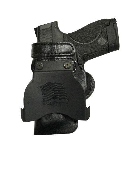 Cuero Kydex Remo Funda Pistola Lh Mano Derecha Tamaño Completo Rieles Para 1911 5
