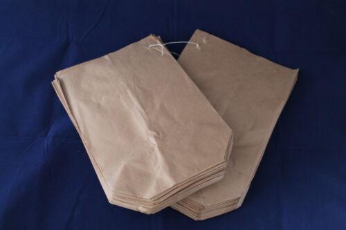Bodenbeutel gefädelt 19 x 29 cm für 1,5 kg - 50 o. 1000 Stk. Papiertüten braun