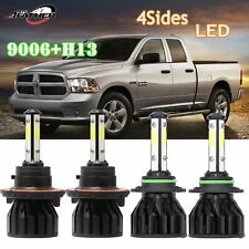H13 9006 Cree Led Headlights Hilo Beam Fog Lamp For Dodge Ram1500 2500 3500