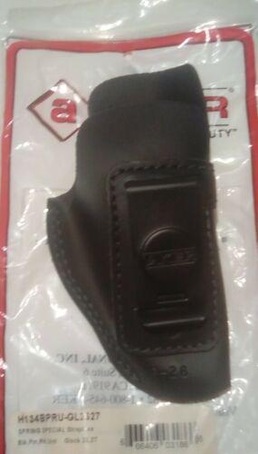 Holster Glock 26//27 Inside waistband rh blk Aker Lthr 134 w//spring steel clip
