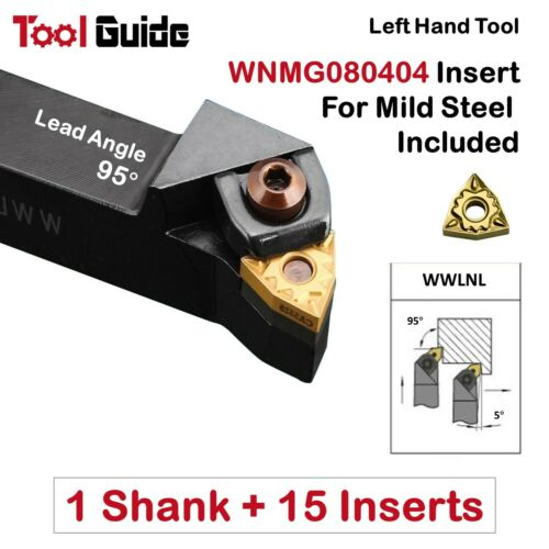 WWLNL 20mm 25mm 32mm Shank Indexable Turning Lathe Tool Holder Cylindrical Left