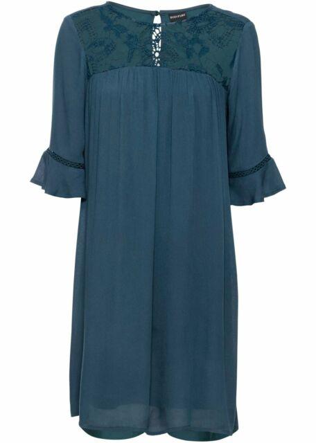 Damen Kleid Mit Spitze 322893 In Petrol 36 Gunstig Kaufen Ebay