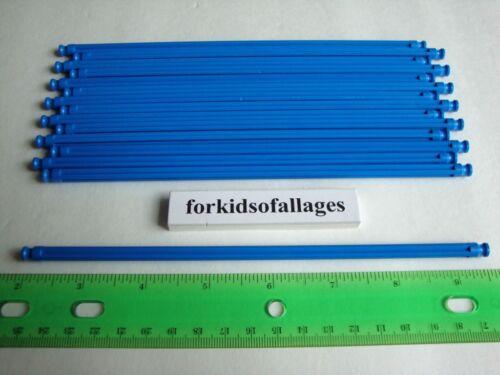 """25 BRIGHT BLUE RODS 7 1//2/"""" Long 7.5/"""" Bulk Standard KNEX Spare Parts//Pieces Lot"""