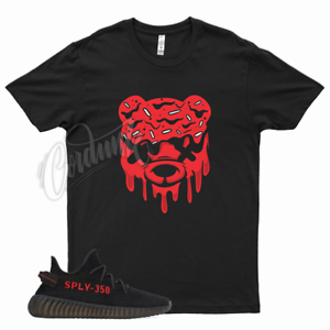 Black DRIPPY T Shirt match Yeezy Boost v2 Bred 11 Fire Gym Red 4 Flu Game 12