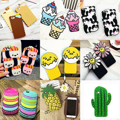 3D New Cute Cartoon Food Soft Silicone Phone Case Cover Back Shell For iPhone