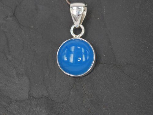 Blauer Calcedonia remolque en masivas 925 plata versión s-ach-22 a