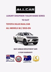 Pleasing Details About Tailor Made To Fit A Toyota Hilux Dual Cab Luxury Sheepskin Car Seat Covers Forskolin Free Trial Chair Design Images Forskolin Free Trialorg