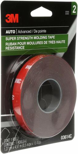 """3M 03614 Scotch-Mount 1//2/"""" x 15/' Molding Tape Pack of 24"""