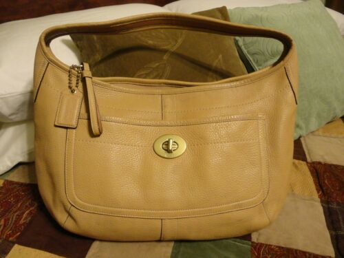 Vintage COACH Ergo Large Tan Leather Hobo Handbag