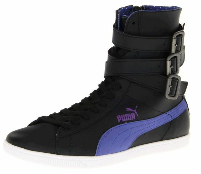 PUMA 35437501 Glyde Hi PDot 3Stp Wmn's (M) Black Leather Casual Hi-Top shoes