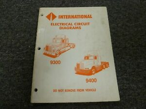 1990-1992 International 9300 9400 Truck Electrical Wiring Diagrams Manual  1991 | eBayeBay