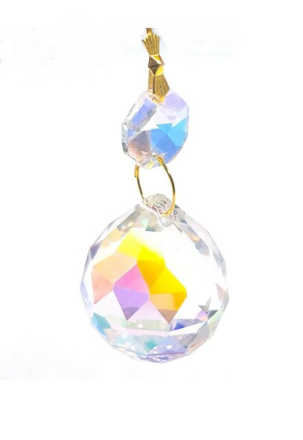 Iridescent 30mm Faceted AB Ball Chandelier Crystals ...