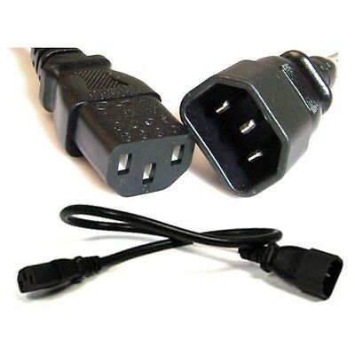 Lot10 1ft short Male~Female PC Power Extension Cord//Cable//Wire IEC320 C13~C14$SH