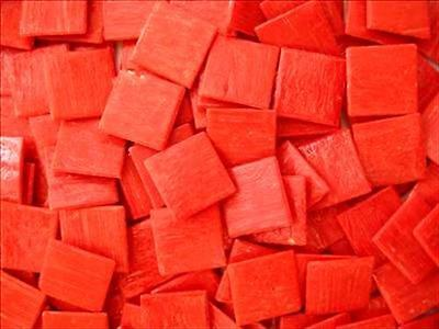 75 Pack Red 20mm Vitreous Mosaic Tiles Tessera Tesserae