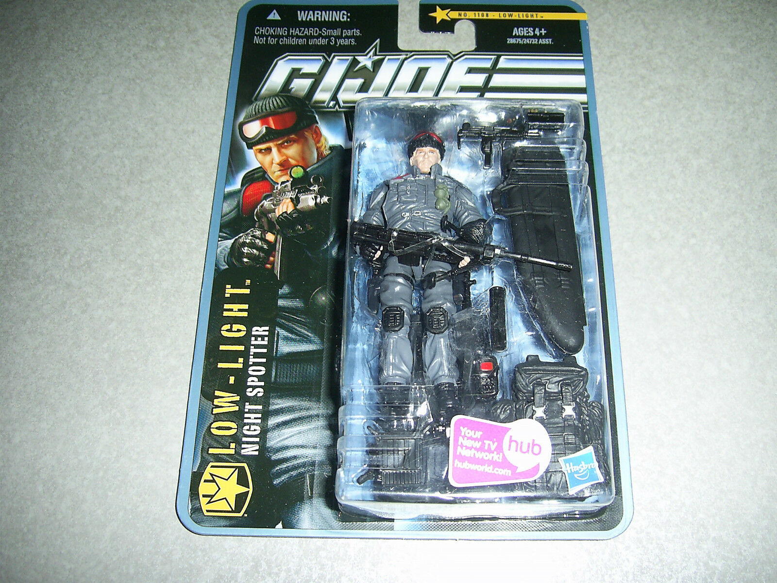 Lowlight GI Joe 25th Anniversary Figure 30TH POC ROC Low-Light 1108 G. I. Joe