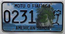 American Samoa 2010 MOTU O FIAFIAGA License Plate HIGH QUALITY # 0231