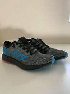 Blue Reflective Running Shoes Boost Red