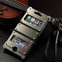Armor Luxury Leather Metal Aluminum Case Cover For Apple iPhone 6/6s/7/Plus