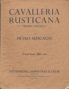 """cavalleria Rusticana"" (rustique Chevalerie)-afficher Le Titre D'origine Service Durable"