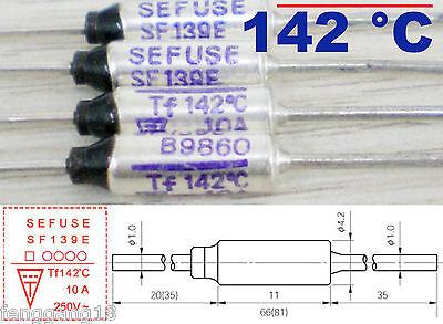 10pcs Microtemp Thermal Fuse 142°C 142 Degree TF Cutoff SF139E 10A AC 250V New