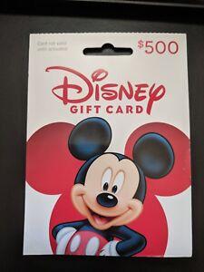 500 Disney Gift Card Disneyland Disney World Disney Cruise Ebay